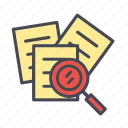 data, file, paper, search, search document, search file icon