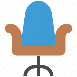 chair, desk chair, office chair, office furniture, swivel, swivel chair icon