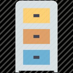 cabinet, cupboard, drawer, draws, filing cabinet, furniture, storage drawer icon