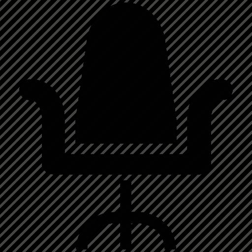 chair, desk chair, office chair, office furniture, swivel, swivel chair icon