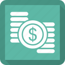 coin, coins, money icon