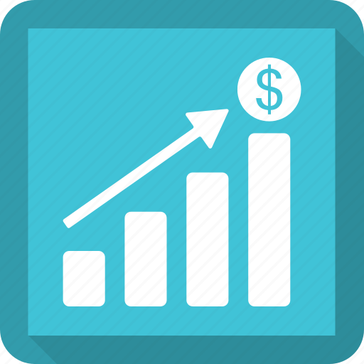 Arrow, bar, graph, growth icon - Download on Iconfinder