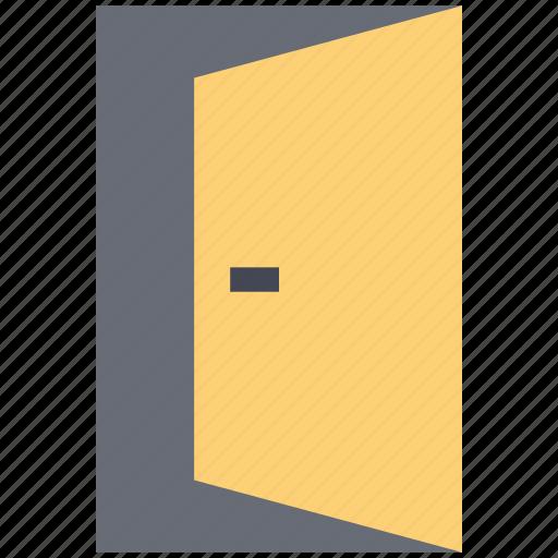 door, exit, gate, open door, out, sign icon