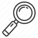 glass, loupe, magnifier, search icon