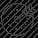 aim, arrow, goal, targeting icon