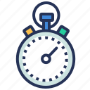 management, stopwatch, time, timer icon