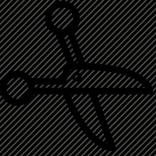 cut, office, scissors icon