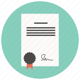 agreement, business, contract, document, file, paper, signature icon