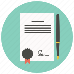 agreement, business, contract, document, file, paper, pen icon
