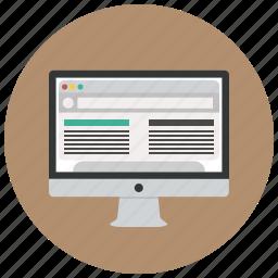 apple, computer, imac, macintosh, monitor, pc, website icon
