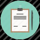 analytics, checkmark, clipboard, document, report, sheet, task icon
