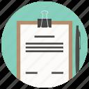 analytics, checkmark, clipboard, document, file, report, task icon