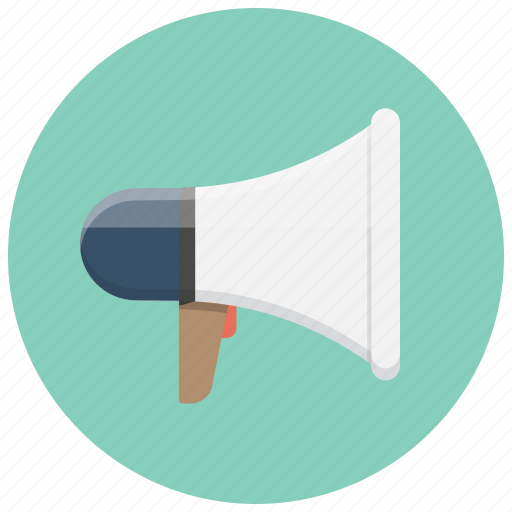 alert, attention, broadcast, loud, megafon, megafone, megaphone icon