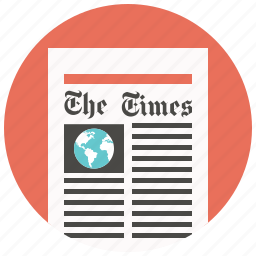media, news, newsletter, newspaper, press, print, print media icon