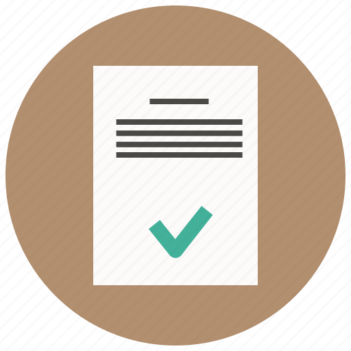 approve, data, document, file, paper, sheet, text icon