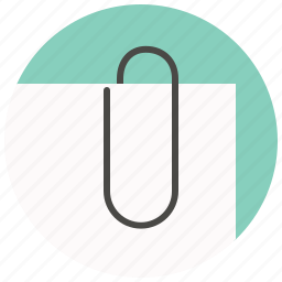 attach, attachment, clinch, clip, fastener, paper, paperclip icon