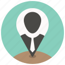 business, location, map, marker, office, pin, tie icon