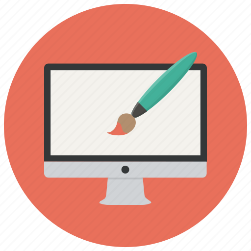 computer, creative, design, designer, graphic, monitor, paint icon