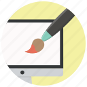 computer, design, graphic, graphics, monitor, paint, web icon