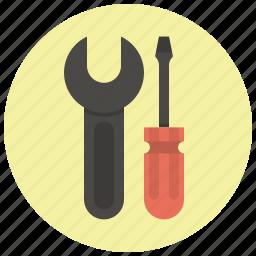 options, repair, screwdriver, settings, setup, tools, wrench icon