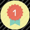 achievement, award, badge, best, favorite, ribbon, winner icon