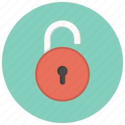 access, key, lock, private, safe, security, unlocked icon
