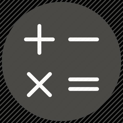 calc, calculate, calculator, math, minus, plus, school icon