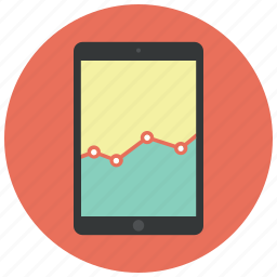analytics, diagram, graph, ipad, report, sales, statistics icon