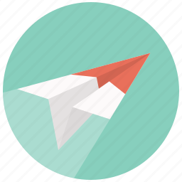 airplane, email, mail, message, paper plane, plane, send icon