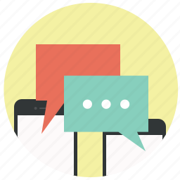 bubble, chat, chatting, comment, message, mobile, talk icon