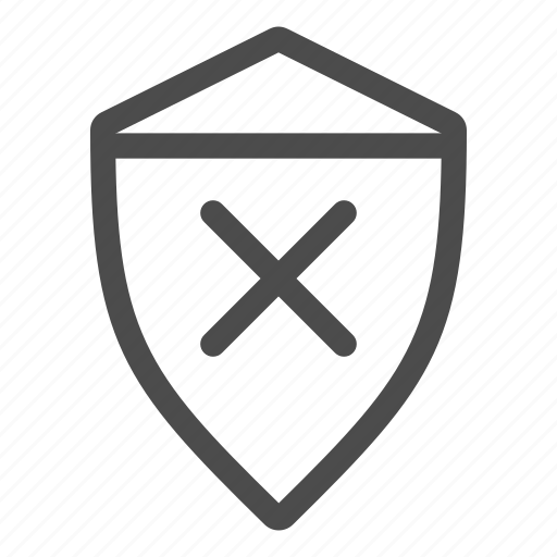 firewall, protect, protection, safe, safety, secure, unsafe icon