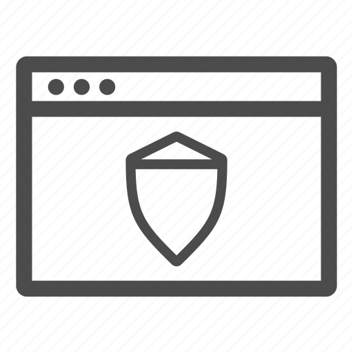 browser, firewall, protection, safety, secure icon