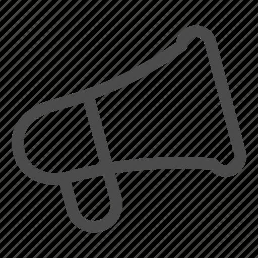 ad, advertising, alert, announcement, megaphone icon