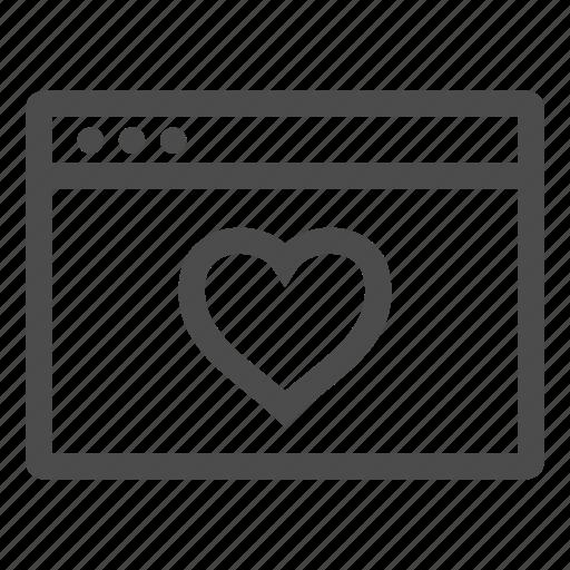bookmark, browser, favorite, favourite, heart icon
