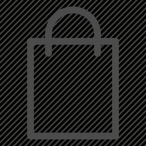 bag, gift bag, paper bag, paperbag, shop, shopping icon