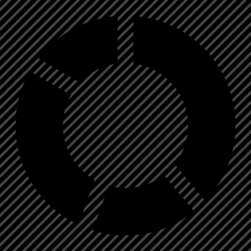 chart, circle, circular, pie, piechart, report icon