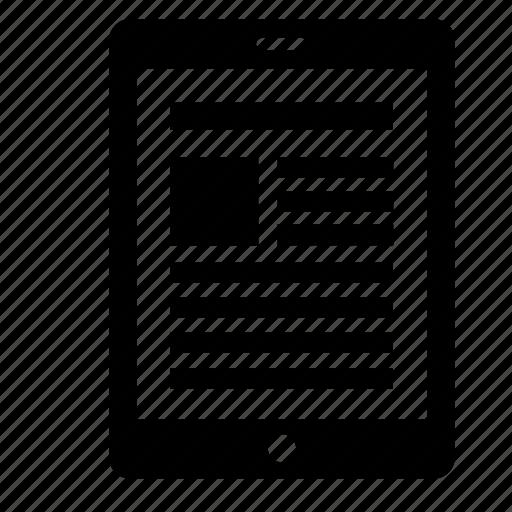device, electronic, gadget, ipad icon