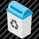 bin, delete, dustbin, garbage, recycle bin