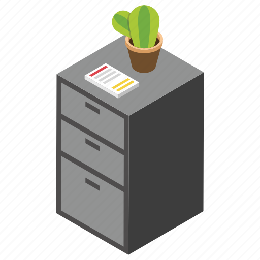 Drawer, furnished office, office furniture, office table, side table icon - Download on Iconfinder