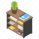 office desk, office files, office table, official directories, workplace icon