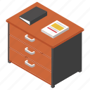 office files, office table, official drawer, working desk, workplace