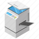 documents printing, office printer, photocopier, photocopy machine, printing machine icon