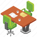 office area, office break, office furniture, recess, teatime icon