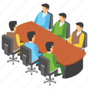 business meeting, conference, conference room, employee meeting, meeting room icon