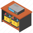 batteries, office accessory, office desk, office ups, power supply icon