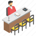 employee desk, employee table, employee working, job, workplace icon