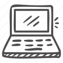 laptop, computer, technology, notebook, pc, device