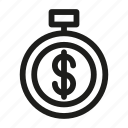 bank, business, finance, money, office, time icon