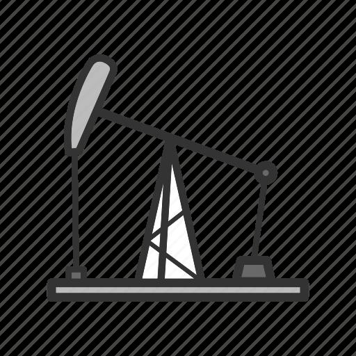 cutter, derrick, oil, pump, rig icon