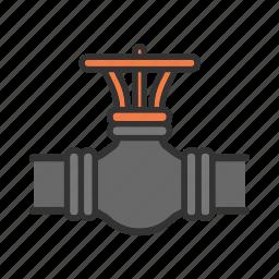 faucet, gas, oil, pipe, pipeline, valve, ventil icon